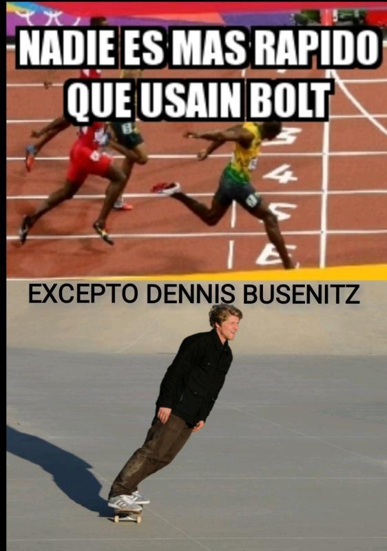 Meme nadie es más rápido que Usain Bolt (versión skate)