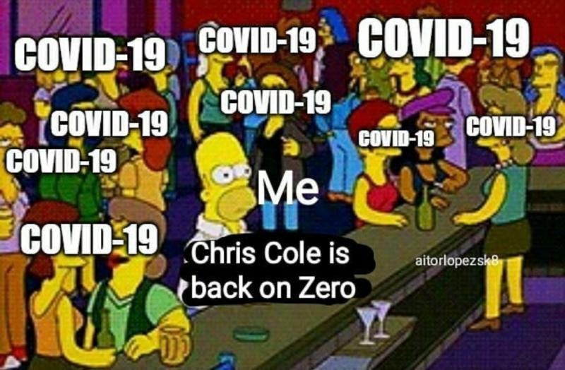 Meme Chris cole vuelve a zero