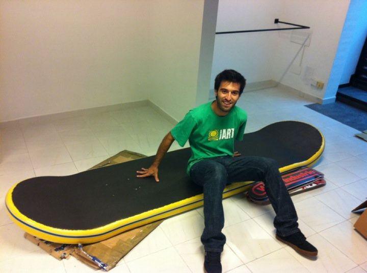 Nueva tabla skate shine mostrador