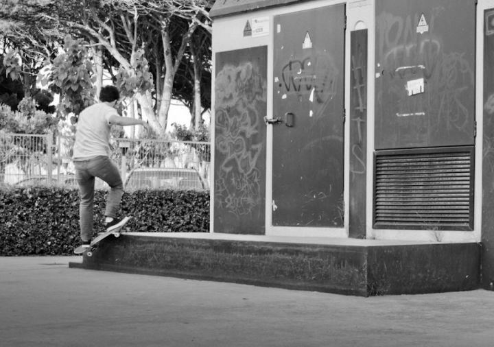Smith grind skater pau lugar pineda tarragona foto