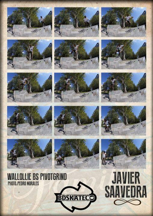 Wallie backside pivot Grind. Javier Saavedra. Zamora
