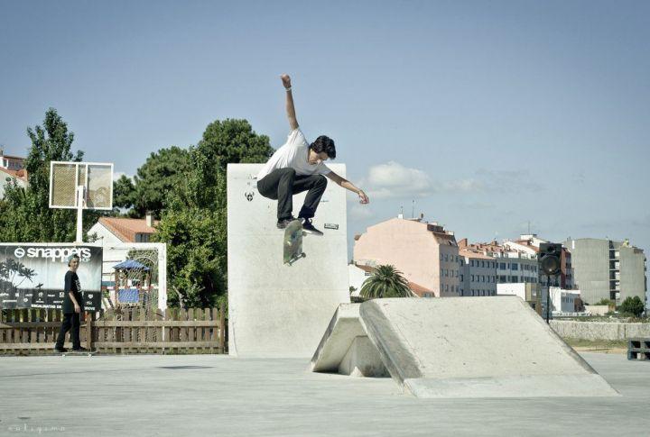 Hardflip de Joni Galmán, Skatepark O Grove, Galicia