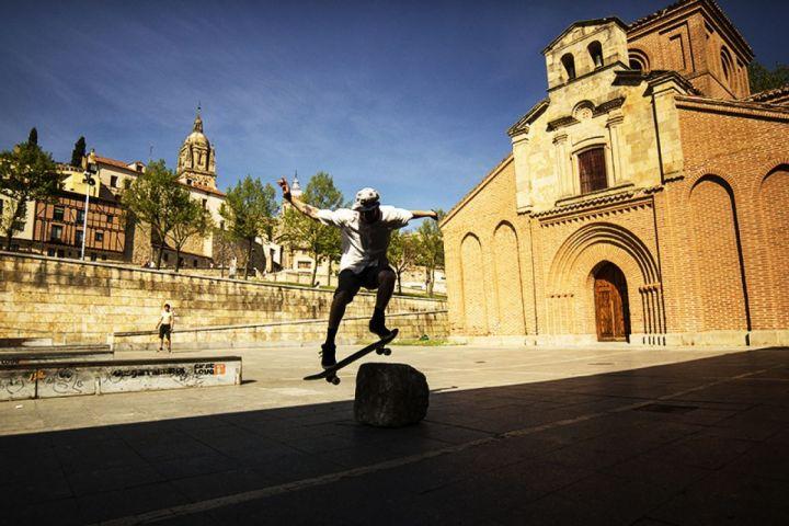 Dani de wallie en la roca, Skateplaza Salamanca