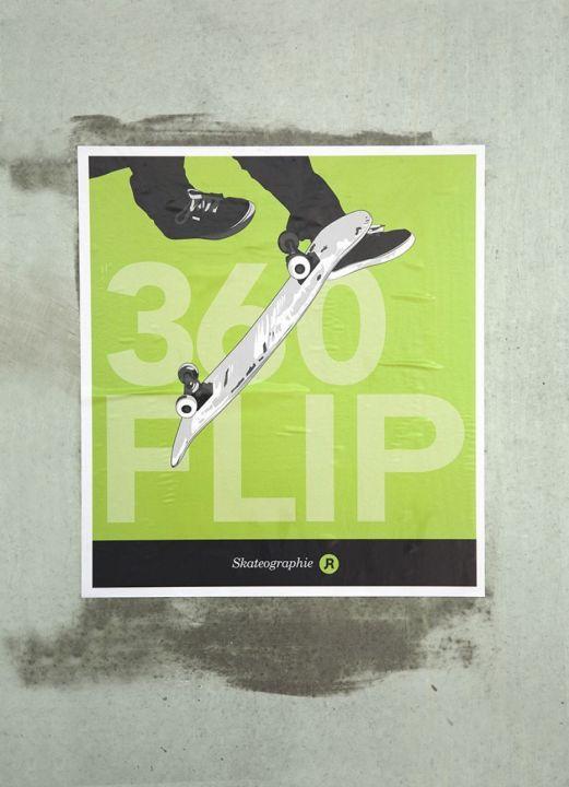 Skateographie art prints : 360 Flip