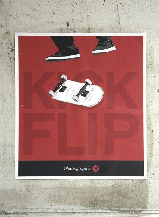 Skateographie art prints : Flip