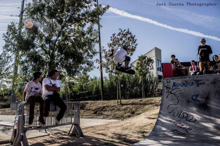 "Hingher Flip transfer en el Skaterpark de Rubi, en Barcelona, Danny Batista ""Master"""